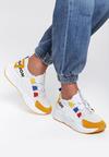 Biało-Żółte Sneakersy Alaia