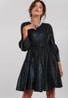 Czarno-Niebieska Sukienka Martha