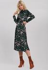 Ciemnozielona Sukienka Stork