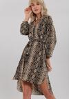 Czarno-Beżowa Sukienka Barmulloch