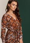 Brązowa Sukienka Breves
