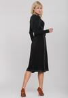 Czarno-Srebrna Sukienka Brendale
