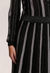 Czarno-Szara Sukienka Preece