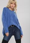 Niebieski Sweter Rosedale