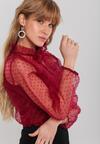 Bordowa Bluzka Anabelle