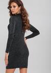 Czarno-Srebrna Sukienka Westin
