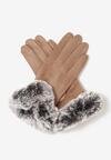 Beżowe Rękawiczki Faheem