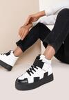 Czarno-Białe Sneakersy Rivka