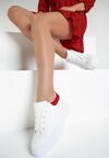Biało-Czerwone Sneakersy Amiee