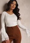 Biały Sweter Rianne