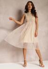 Ciemnobeżowa Sukienka Lawrence