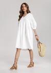 Biała Sukienka Fraya