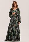 Czarno-Zielona Sukienka In New York