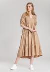 Beżowa Sukienka Schuyler