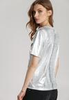 Srebrny T-shirt Byers