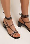 Czarne Sandały Amphinome