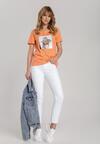 Pomarańczowy T-shirt Galene