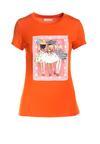 Pomarańczowy T-shirt Kleora