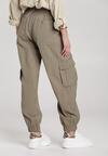 Ciemnozielone Spodnie Eunosise