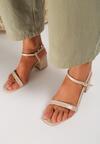 Beżowe Sandały Amynope