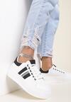 Biało-Czarne Sneakersy Elashor