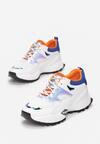 Biało-Pomarańczowe Sneakersy Collin
