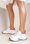 Biało-Żółte Sneakersy Collin