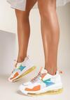 Biało-Pomarańczowe Sneakersy Wilkerson