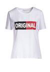 Biały T-shirt Leucedice
