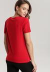 Czerwony T-shirt Leucedice