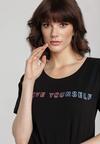 Czarny T-shirt Aroaxera