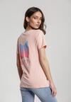 Jasnoróżowy T-shirt Aroaxera
