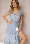 Niebieska Sukienka Adrenia