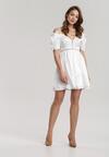 Biała Sukienka Silkport