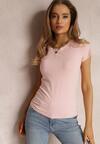 Jasnoróżowy T-shirt Ariema