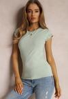 Miętowy T-shirt Ariema