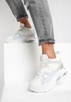 Biało-Niebieskie Sneakersy Annais