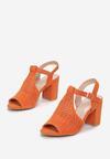 Pomarańczowe Sandały Sirelee