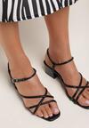 Czarne Sandały Salathoe