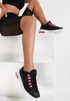 Czarno-Fuksjowe Sneakersy Quburn