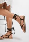 Czarne Sandały Adoreia