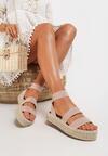 Beżowe Sandały Asteronis