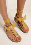 Żółte Sandały Shesana