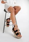 Czarne Sandały Corilia