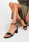 Czarne Sandały Geniciane