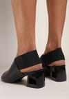 Czarne Sandały Melimeine