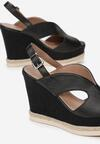 Czarne Sandały Hairei