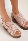 Różowe Sandały Aquama