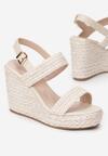 Beżowe Sandały Aqiafere