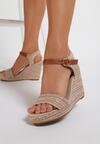 Ciemnobeżowe Sandały Aririen